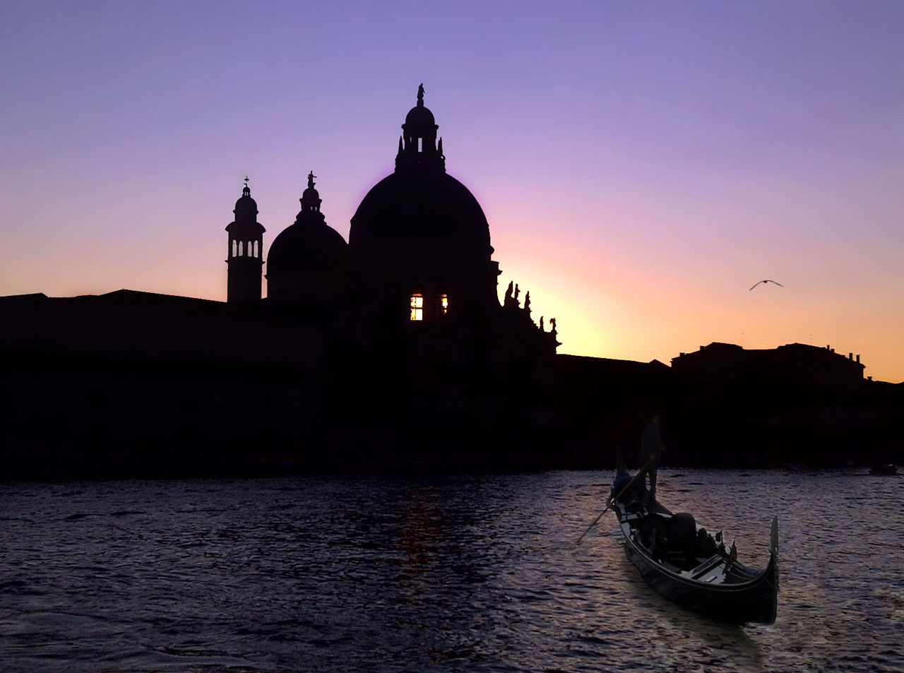Cathedral  Silhouette  from  Venice,   Italy