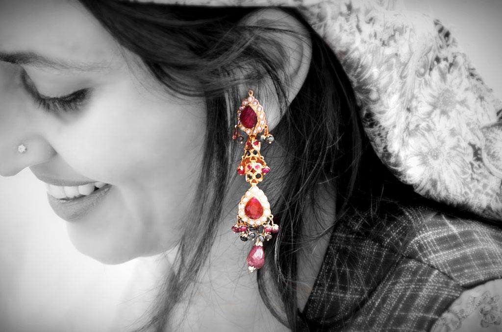 Ear Decoration  alias  'Jhumka'  of an Indian Woman