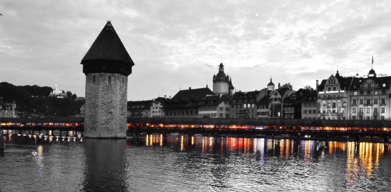 Chapel  Bridge   –  Lucerne ,  Switzerland