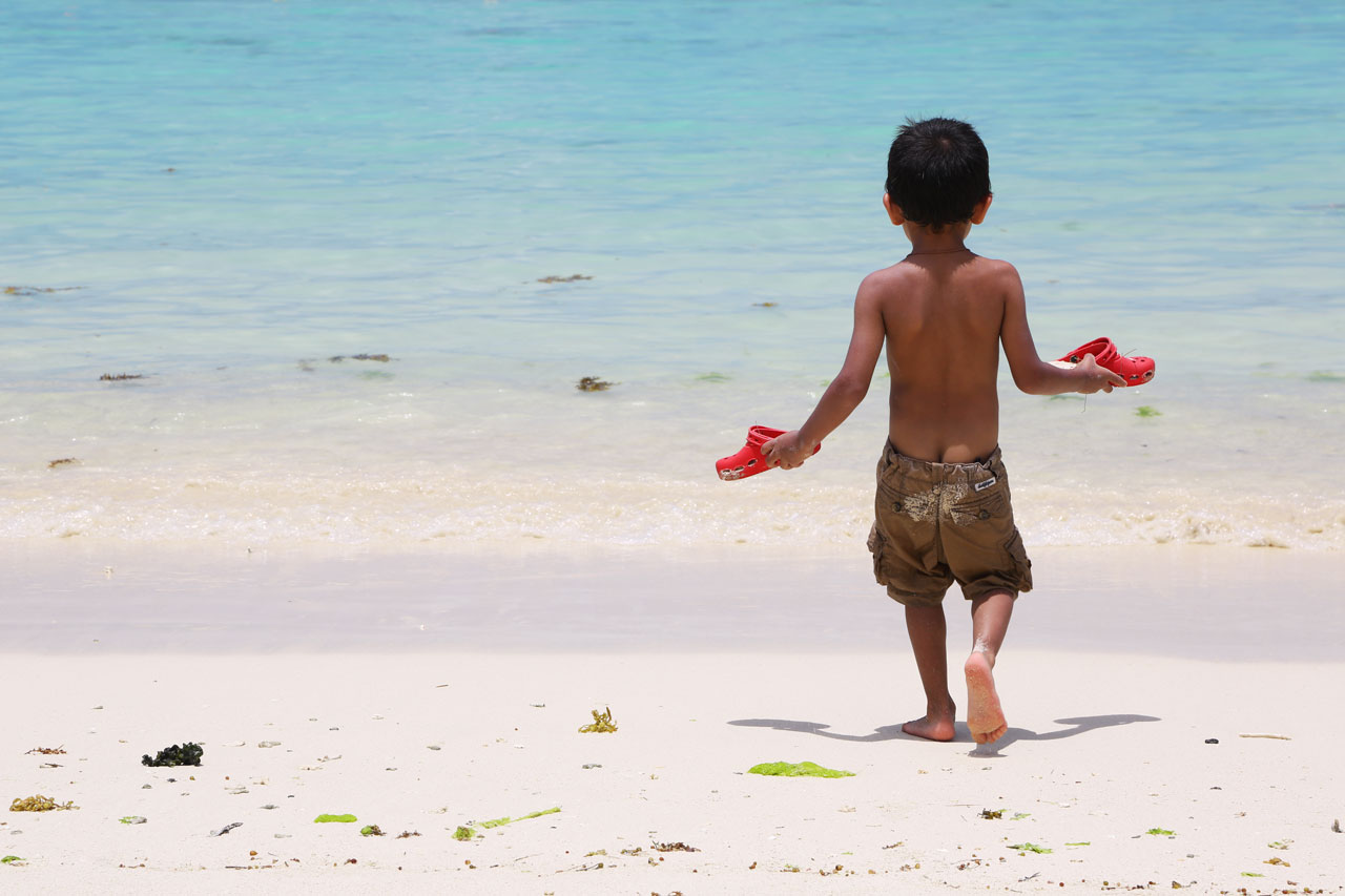 A Beach  at  Mauritius